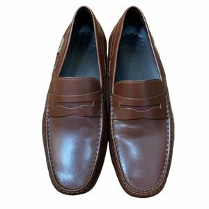 Mephisto Brown Leather Slip On Comfort Loafers